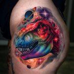Rainbow T-Rex dans l'espace