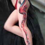 Aquarelle abstraite de flamant rose