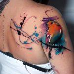 Tatouage D'épaule De Robin