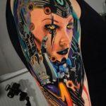 75 tatouages de Cyberpunk époustouflants que vous devez voir (En images) - TattooList